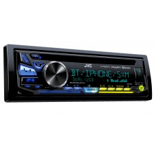 JVC Single DIN CD Car Stereo with Bluetooth and Satellite Radio